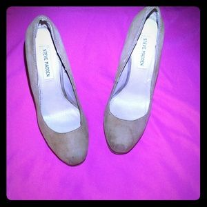 Steve Madden Sarrina Nude heels sz 8.5